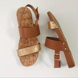 🔥 RESTRICTED   cork footbed   wedge